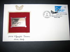 2006 OLYMPIC GAMES TURIN ITALY 22kt Gold GOLDEN Replica Cover STAMP