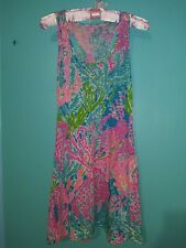 New Lily Pulitzer Swimsuit Cover Up Multi Color Knee Length Extra Small XS New !