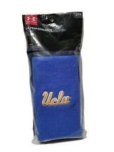 "Under Armour 6"" UA Performance Wristband 2-Pack UCLA One Size, Blue/Gold"