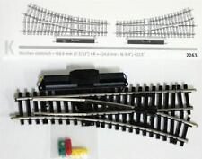 Märklin H0 1 Stück 2263 - elek. K - Weiche rechts gerade 424,6mm NEUWARE