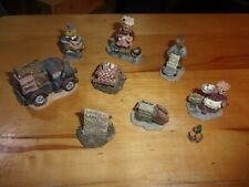9 piece Boyd's town village miniatures food Caitlin's samples, sweet treats,