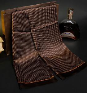 100% Mulberry Silk Satin Scarf men women neckerchief Shawl Wrap coffee MY128-13