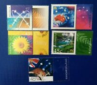 Australian Stamps 2000 45c Nature and Nation full Set of 5 with Tabs, MNH