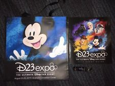 New Disney D23 Expo 2019 Exclusive Tote Bag Lanyard and Convention Book