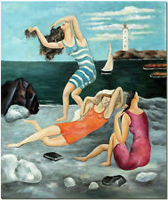 """3 Bathers Women Bathing - 20x24"""" Hand Painted Pablo Picasso Painting Wall Art"""