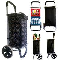 Einkaufswagen Einkaufstrolley Trolley Einkaufsroller Aluminium klappbar Tasche G