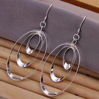 beautiful Fashion cute 925 Silver women pretty Charms solid Earring Jewelry