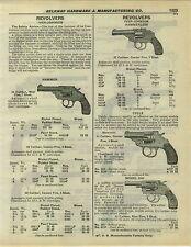 1932 PAPER AD Iver Johnson Cycle Motorcycle Revolver 5 Shot Bull Dog H&R Hunter