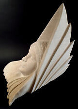 """Neo-Athena"" stone sculpture by Don Lawler, garden art"