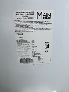 Main Unvented Stainless Steel Indirect Twin Coil Solar Hot water Cylinder