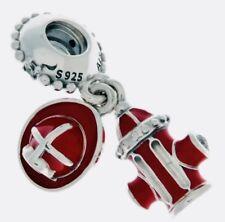 Authentic Pandora FIREFIGHTER ESSENTIALS CHARM W/ Pandora TAG & BOX #797632ENMX