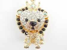 """Lion Pendant Necklace by Betsey Johnson, Gold 27"""" Chain  Ships FREE from USA"""