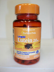 Lutein 20mg 120 Softgels Naturally Contains Zeaxanthin Supports Eye Health