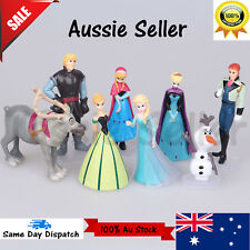 Disney FROZEN 8 Figure Cake Topper Set Elsa Anna doll Olaf LOOSE Figurine toys