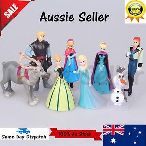 2020 Disney FROZEN 8 Figure Cake Topper Set Elsa Anna doll Olaf  Figurine toys