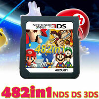 482in1 Video Game Card Super Mario For Nintendo DS NDSL NDSI 2DS 3DS US