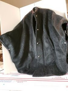 Vintage Loden (Austria)  Heavy Wool Cape, Size 38 Womens , Charcoal Brushed Wool