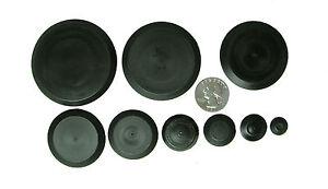 "50 Piece Flush Mount Black Hole Plug Assortment Auto Body Sheet Metal 1/4"" - 2"""