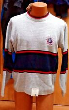 NHL NEW YORK RANGERS MENS STRIPED KNIT SWEATER SIZE LARGE NEW OLD STOCK
