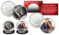 PRINCE HARRY & MEGHAN MARKLE Royal Engagement RCM Medallion Official 2-Coin Set