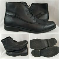 Black Leather Ankle High Desert Chelsea Chukka Boots Size 12