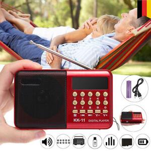 FM Radio Lautsprecher Akku Mini Box Musikbox FM Radio USB SD Mit Batteries
