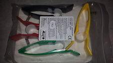 Jeu de 4 pinces électrodes membres ASEPT 250297 *NEUF*