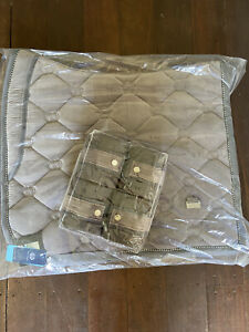 PS Of Sweden Grey Velvet Set Saddle Pad Bandages PSOS