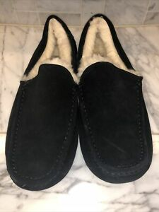 Men's UGG Black Ascot Slippers- size 11- #1101110