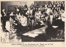 JEAN OMER ~ BELGIAN JAZZ REEDIST & BANDLEADER ~ c. - 1940