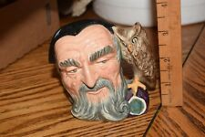 Royal Doulton Merlin With Owl Handle Small Character Toby Jug D6536 Great Color