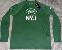 Authentic NY JETS Long-Sleeve NFL COMBINE Training Jersey-Shirt UNDER ARMOUR M