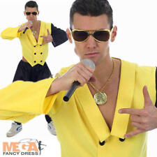 80s Rapper Rap King Fancy Dress Mens 1980s Celebrity MC Hammer Party Costume