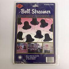 Beistle Black Bell Streamer Honeycomb Art Tissue Wedding Venue Shower Decoration