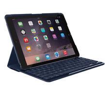 """Logitech iPad 9.7"""" Slim Folio Bluetooth Keyboard Case Blue for iPad 5th 6th Gen"""