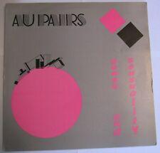 AU PAIRS sense and sensuality LP FRANCE 1982 Post Punk Synth Pop INSERT LYRICS