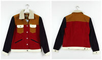 NEW WRANGLER by PETER MAX  SHERPA JACKET CORDS CORDUROY RETRO VINTAGE  XS/S/M/L