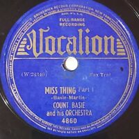 Count Basie - Miss Thing Part I / Miss Thing Part II (Vocalion 4860) Album Jazz