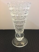 clear glass vase 8 inches x 4 inches. Pretty tapered vase.