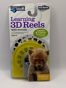 View-Master Discovery Channel Babies in Nature Learning 3D Reels with Sounds New