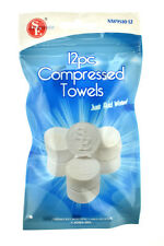 12 Tablet Wash Cloths Compressed Towels Capsules Camping Survival GREAT FOR KIDS