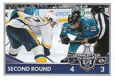 16/17 PANINI NHL STICKER STANLEY CUP PLAYOFFS #476 SHARKS PREDATORS *24666