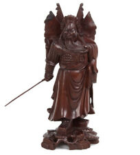 La Chine 20. JH. Bois Statue-A Chinese Carved Hardwood figure of Guan Yu chinois