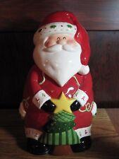 Santa Claus Christmas Holiday Cookie Jar Hand Painted Ceramic Hobby Lobby 2014