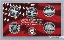 1999 S Silver 5 Coin State Quarter Gem Proof Set NO BOX/COA