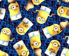 Fat Quarter Royal Egyptian Minions Despicable Me Cotton Fabric Quilting Treasure