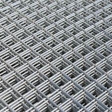 """Welded Wire Mesh Panel 8'x 4' ft Galvanised Steel Sheet 1"""" holes Metal Grid 12g"""