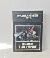 Tau Empire Datacards T'au Warhammer 40k 2018 8th edition 8e Data Cards USED
