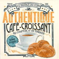 Papel 4x Servilletas Para Decoupage Artesanal Estilo Retro croissant