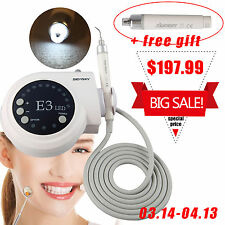 Ultrasonic Piezo LED Fiber Optic Scaler W/ Tips fit EMS+One Extra Handpiece CJ1X